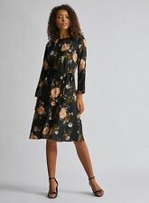Dorothy Perkins Womens Tall Multi Fit & Flare Midi Dress Round Neck Floral Print