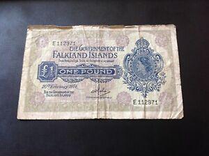 £1 Falkland Islands Pound banknote 20/2/74