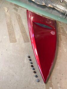 01-02 OEM Mercury Cougar  VENT HOOD SCOOP maroon red