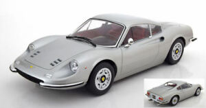 Ferrari 246 Gt Dino 1973 Silver 1:12 Model KK SCALE