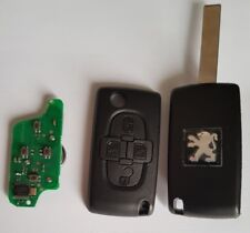 ASK Clé Télécommande Complète Peugeot 807 * 4 boutons Fréquence : 433mhz