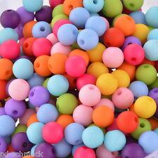 PD: 300 Mix Farben Acryl Rund Kugel Spacer Perlen Beads Opak 8mm
