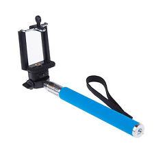 Azul SELFIE Extensible de Mano bastón monópode para iPhone 4s 5s 6s 7 Plus de Samsung
