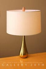 "EPIC! CUSTOM ""TEAR OF SHAH JAHAN"" BRASS LAMP! VTG 60'S MID CENTURY DANISH 1950'S"
