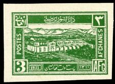 AFGHANISTAN 3 AFGHANI 1931 Green IMPERF MINT National Assembly Proof type STAMP