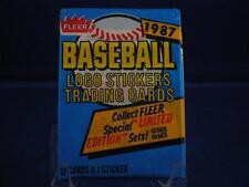 2 PACK LOT OF UNOPENED 1987 FLEER BASEBALL CARDS FRESH FROM BOX