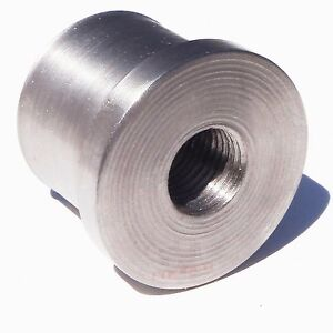"""1.25"""" Flare Weld In Bung Mild Steel Material with Thread Hole 1/2"""" x 20"""