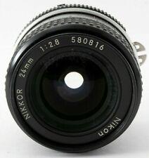 [Excellent +5] Nikon NIKKOR 24mm f2.8 Ai-converted F Mount Ai Lens Japan #717504