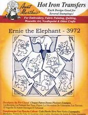 Ernie the Elephant Aunt Martha's Embroidery Transfer #3972