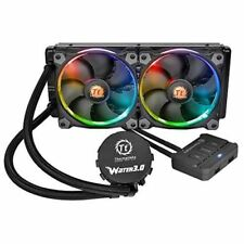 Thermaltake RGB Fan 240 Mm Water Cooling System CPU Cooler With Radiator - Black