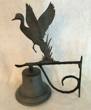 Black Cast Metal Montague Metal Products Bell with Duck Wall Ornament - Exc