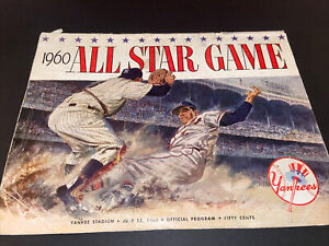1960 ALL STAR GAME PROGRAM YANKEE STADIUM 7/13/60~MICKEY MANTLE~TED WILLIAMS~