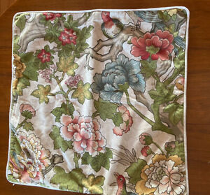 """Pottery Barn Ingrid 24""""Square Palampore Cotton  Pillow Cover NWT zip"""
