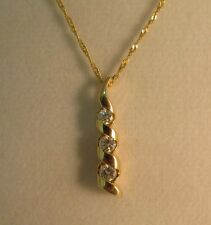 """14k Gold 1/2ct Diamond Horn Braided Necklace- 20""""L.  SALE-SAVE $700.    #782"""