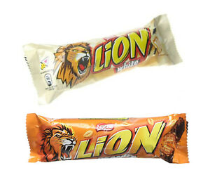 Limited Edition Lion CHOCOLATE Bar White Peanut Nestle Full box of 40x 42g Bars