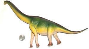 "2008 Safari Ltd Miami 0810 14"" Brachiosaures Prehistoric Dinosaur GD Lead Free"