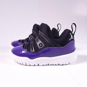 Size 7 Toddler Kid's Jordan 11 Retro Little Flex Sneakers BQ7102-005 Purple
