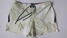 """Women's REEBOK Crossfit 5"""" Chalk Board Shorts Cream/Green Color Size 30"""" - BNWT"""