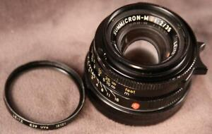 Leica Summicron-M Version IV 35mm F2 Leitz Canada w/ Leitz Filter & Rear Cap