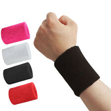 2Pcs Wrist Brace Sport Cotton Bands Sweat Wristband Soft Wrap Basketball Tennis