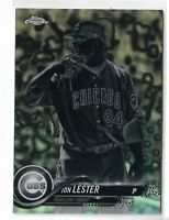 2018 Topps chrome baseball negative parallel refractor Jon Lester #191