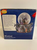 Classic Treasures Musical Wizard and Dragon Water Globe NEW