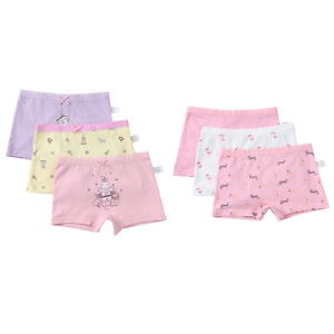3Pcs Kids Girls Cotton Underwear Bowknot Lovely Cartoon Pattern Stretchy Panties