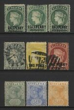 St Helena Collection 9 QV Stamps Used / Unused Mounted