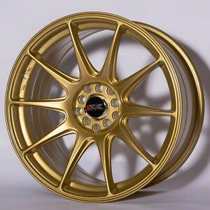 "XXR 527 18"" x 8.75J ET35 5x100 5x114.3 GOLD SET OF 4 WHEELS"