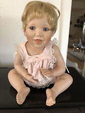 Danbury Mint Baby Porcelain Doll.