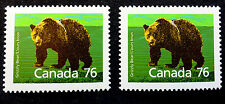 CANADA  #1178 #1178a VF MINT NH** GRIZZLY BEAR CAT.$6.50