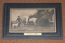 Vintage Postcard: George Stubbs, A man with a Horse, Dog