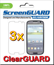 3x Samsung Galaxy S3 i9300 i9305 III Clear LCD Screen Protector Guard Cover Film