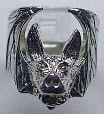LOOK New Big Large Heavy Sterling Silver .925 Vampire Dracula Bat Ring Gothic Je