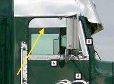 Freightliner Classic Chop Top Door Trim Stainless Steel for Door Mounted Mirrors