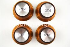 Brown Silver Reflector Electric Guitar Knobs For Gibson SG Style Electric Guitar