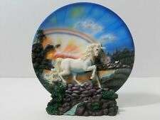 MEDIVAL LEGENDS MAGICAL UNICORN COLLECTOR PLATE WITH STAND