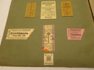Olympiade 1936 Garmisch - Partenkirchen: Art Reisebericht mit Eintrittskarten +
