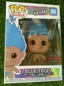 Funko POP Blue Troll 06 Edición Especial Troll Azul de la Buena Suerte