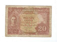 Malaya - 1941, Twenty (20) Cents