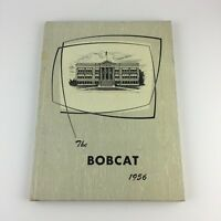 1956 The Bobcat Yearbook Union High School Island City Oregon history Student
