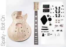NEW DIY Electric Guitar Kit - LP Spalted Maple Bolt On Neck