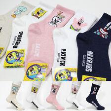 5 Pairs Sponge Bob Character Socks Women Big Kids Girl Funny Socks MADE IN KOREA
