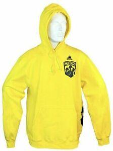 Columbus Crew SC Adidas Yellow Fleece Hoodie Sweatshirt MLS NEW!!