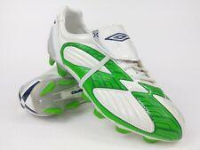 Umbro Mens Rare X-600-A KTK FG 81351G-3HX White Green Soccer Cleats Size 9.5