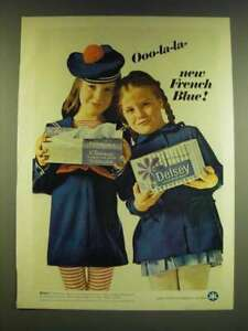 1966 Kleenex Tissues and Delsey Tissue Ad - Ooo-la-la- new French Blue