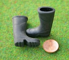 Gummistiefel  Miniatur 1:12  Zubehör Puppenstube Puppenhaus Diorama Schuhe