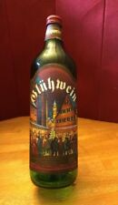 Gluhwein Germany ChristmasMulled Wine Empty 1L Bottle GreenGlass ScrewTop Labels
