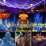 200 LED Outdoor Solar Powered Fairy String Lights Xmas Party Garden Tree Lamp UK
