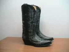 Womens 7 M Corral Picasso Black Full Fancy Stitch Snip Toe Western Cowboy Boots